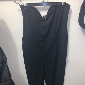 Express strapless black jumpsuit